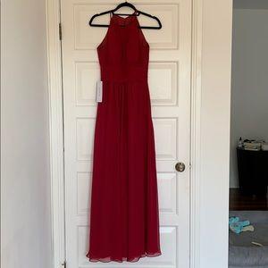 Burgundy Bridesmaids Dress (Azazie)